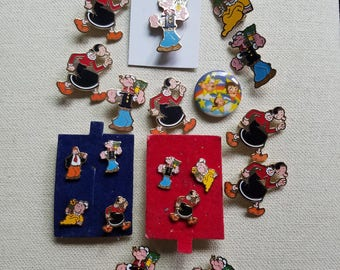Popeye Pin collection (19 pieces)
