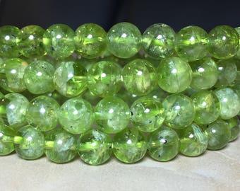 7mm Genuine Peridot Gemstone 5/10/15/20/25/30 Loose Beads Round 7mm Loose Beads, Peridot Beads, Genuine Peridot, Loose Beads