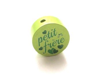 Little brother lime green wooden bead