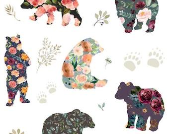 Flower Bear Baby Blanket