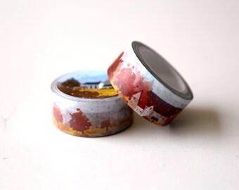 Autum View Washi Tape/Maple town Washi Tape/Striped Washi / Masking tape/ japanese washi tape/Planner Supplies