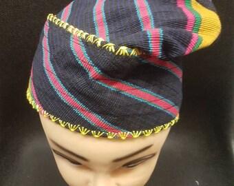 New Elegant Embroidered Yoruba Aso Oke Cap 1pcs