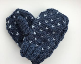 Mini me hand knitted mittens