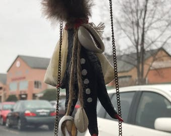 Chicken Foot Charm and Mojo Bag for Car Protection