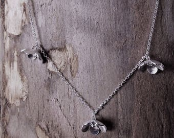 Handmade sterling silver flower necklace - Pangolin Handmade