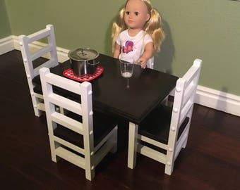 "19"" Doll Dining Room Table Set"