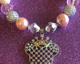 Disney Crown Collection Swarovski Crystals Crowned Mouse Adorable