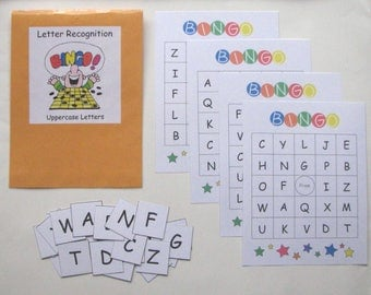 Teacher Made Literacy Center Educational Resource Game Letter Recognition BINGO