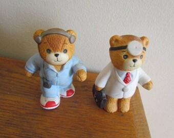 Enesco Miniature Pair of Bears 1985