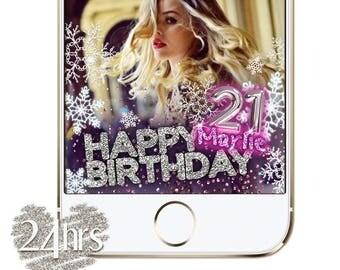 Snapchat Geofilter Birthday, 18th Birthday Party Geofilter, Snapchat Birthday Filter, 21st Birthday Snap chat, Snapchat Filter Birthday 21st
