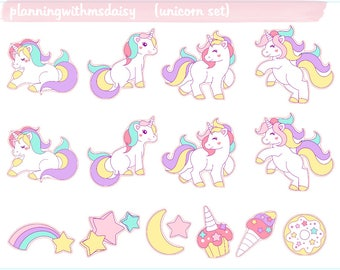 Unicorn Set Stickers
