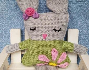Crochet Rabbit   Stuffed Animal   Baby Shower/Keepsake Gift   Soft Toy