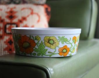 Vintage Retro Floral Dish
