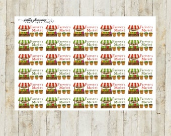 Farmer's Market Planner Stickers by Pretty Planning! Colorful and fun stickers ideal for planning your life!