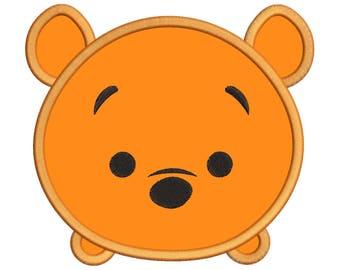 Tsum Tsum Winnie The Pooh Applique Embroidery Design - Tsum Tsum Applique Machine Design - INSTANT DOWNLOAD