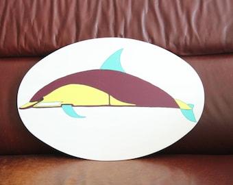 Art deco dolphin sign