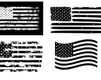 American flag svg Distressed American Flag svg USA Flag svg 4th of July svg Patriotic svg Distressed flags SVG DXF