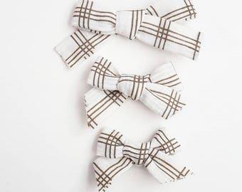 SUMMER SALE** Schoolgirl bows. Nylon Headbands