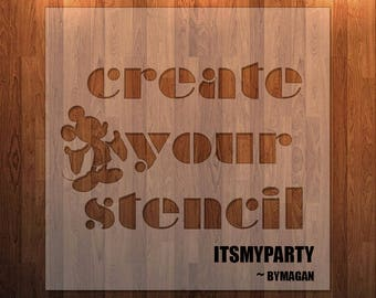 Create Your  Own Stencil || Custom Stencils || Reusable || Durable || Easy to Clean