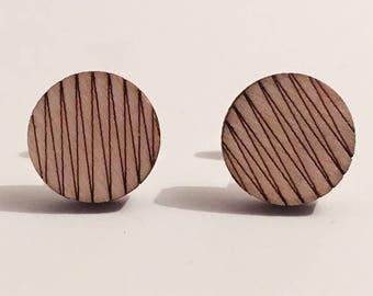 Endless, wooden cufflinks