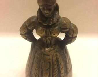 Vintage Victorian Brass Lady Bell