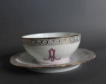 Antique Rare Cup with Saucer Rosenthal CARMEN Hand Painted ca. 1890 year