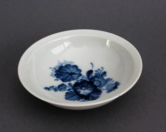 Royal Copenhagen - Blue Flowers / Blå Blomster - Bowl / Deep Plate - 1960's - Vintage Blue China - Denmark