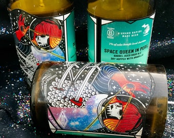 Upcycled Beer Bottle Candle for Beer Lovers Beer Candle Cool Bottle Label Mystery Option