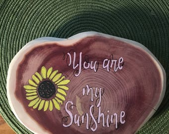 """Hand painted """"You are my sunshine"""" Wall Art"""