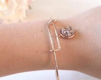 Rose Gold Bangle and charm