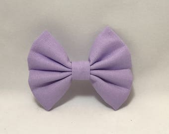 Lilac - Fabric Barrette Bow