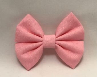 Baby Doll Pink - Fabric Barrette Bow