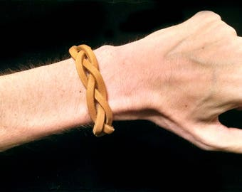 Mystery Braid Leather Bracelet - Small
