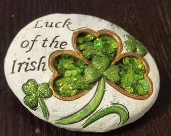 """Vintage """"Luck of the Irish"""" Paperweight"""