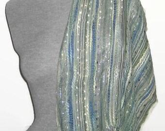 Women Scarves Cotton Scarf with Lurex thread and Art yarn Scarf Cotton Shawl Wrap Scarf Accessories Trendy