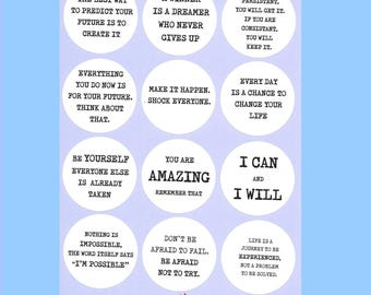Inspirational Quote, Stickers, back to school, quotes, Motivational, inspiring, positive quotes