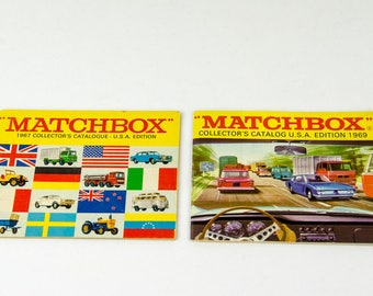 Vintage 1967 & 1969 Matchbox Collector Diecast Cars Catalogue
