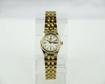Women's Seiko 5 Automatic 21 Jewels Gold Tone Watch