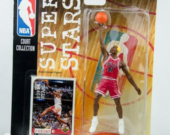 NBA Super Stars Court Collection 98/99 Dennis Rodman Action Figure Chicago Bulls