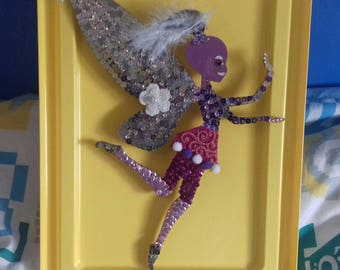 wooden stand to hang pretty fairy