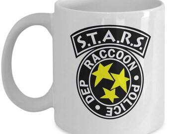 11oz REsident Evil R.P.D Coffee Mug - Racoon City Police Department Mug for Gamers - Gift for REsident Evil Fans - S.T.A.R.S - Nerd Geek Mug
