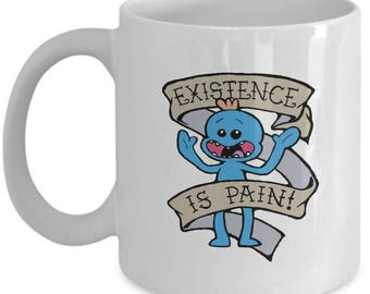 Mr. Meeseeks Mug - Rick and Morty Mug – 11/15 oz Ceramic Rick & Morty Coffee Mug – Awesome Rick and Morty Gift Featuring Mr. Meeseeks Mugs