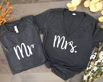 mr and mrs, hubby and wifey, honeymoon vibes, honeymoon shirts, wedding shirts, husband and wife, couples matching shirts, wedding gift