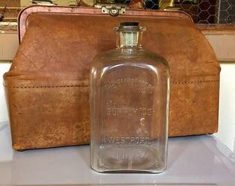Embalming Fluid Bottle, Huge Antique, Cork Stopper, Halloween Display, Oversized Funeral Home Supply