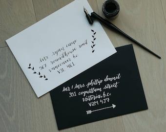 Hand Written Envelopes - Calligraphy Wedding Invitation Envelope Addressing - Hand Lettered - Custom