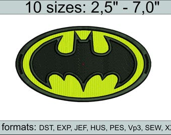 Batman Embroidery Design Batman embroidery design logo/ INSTANT download machine embroidery patter