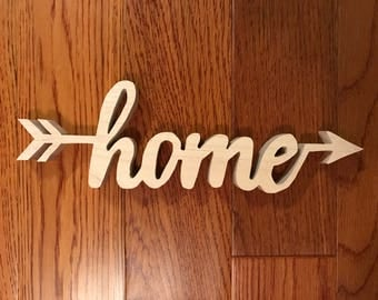 Home Script Wood Sign. Wood Sign Art, Wooden Home, Home Sign