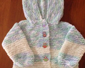 Knitted Hooded Toddlers Jacket