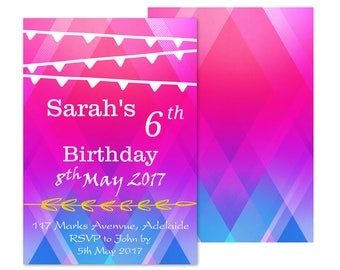 Printable Birthday Invitation | 20 Birthday Invitation Themes to select from | Printable DIY Invite, Affordable Invitation, Digital Invite