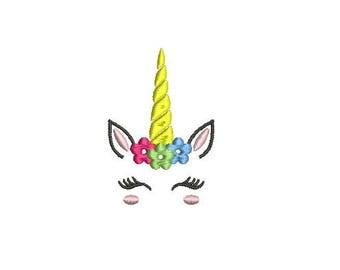 Unicorn Head Design Embroidery Design Fill Design Machine Embroidery Instant Download Digital File EN2077F1
